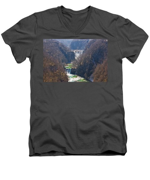 Plitvice Lakes National Park Canyon Men's V-Neck T-Shirt by Brch Photography