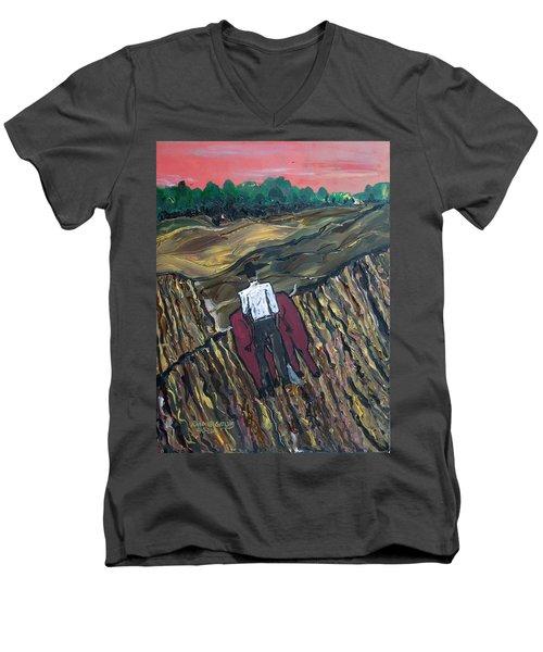 Plow Til' Dawn Men's V-Neck T-Shirt