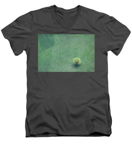Men's V-Neck T-Shirt featuring the photograph Point In The Plane by Davorin Mance