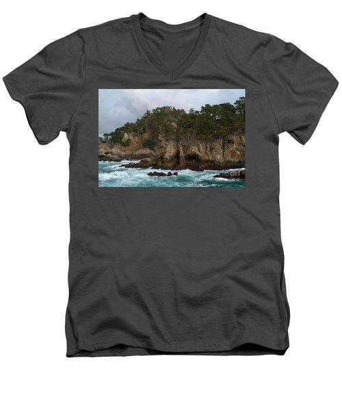 Point Lobos Coastal View Men's V-Neck T-Shirt