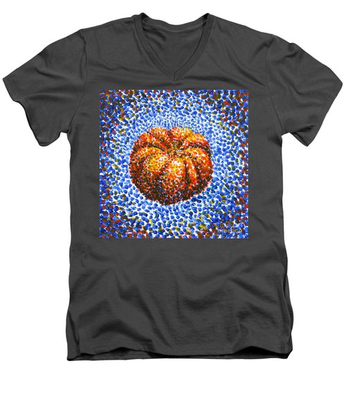 Pointillism Pumpkin Men's V-Neck T-Shirt