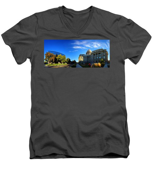 Men's V-Neck T-Shirt featuring the photograph Political Warping by David Andersen