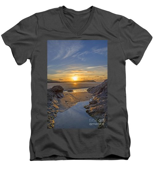 Polzeath Sunset Men's V-Neck T-Shirt