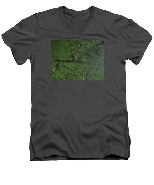 Men's V-Neck T-Shirt featuring the photograph Pond Eyes by Robert Nickologianis
