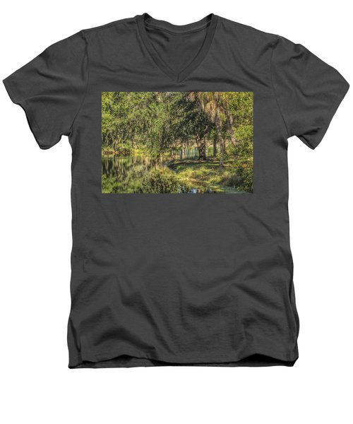 Pond Reflections Men's V-Neck T-Shirt