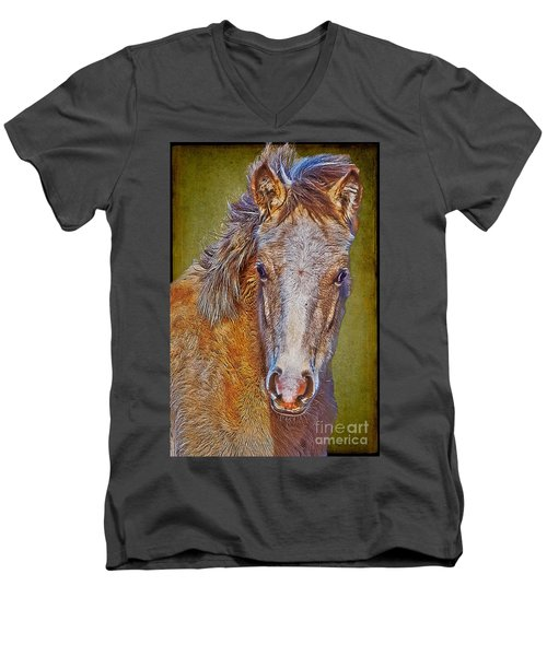 Pony Portrait  Men's V-Neck T-Shirt