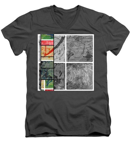 Men's V-Neck T-Shirt featuring the photograph Poor And Rich by Sir Josef - Social Critic - ART