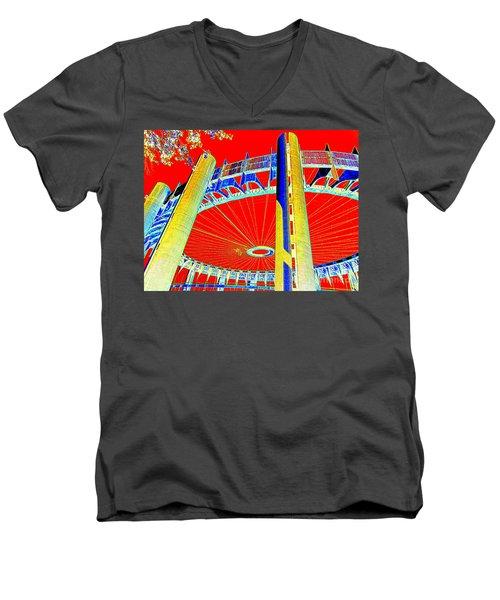 Pop Goes The Pavillion Men's V-Neck T-Shirt by Ed Weidman