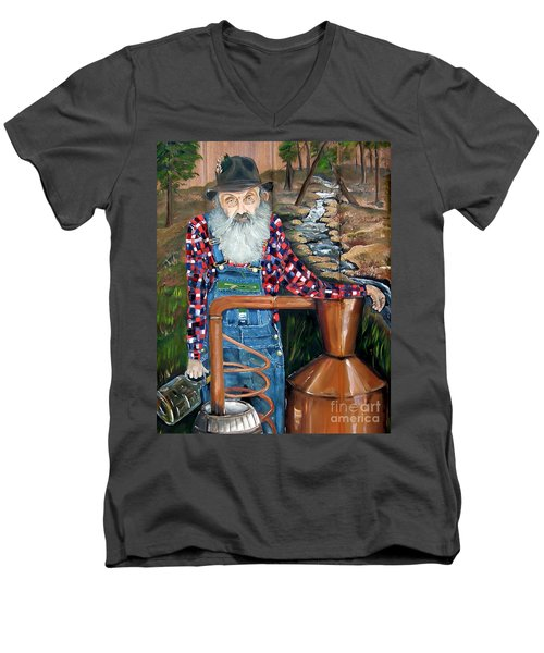 Popcorn Sutton - Bootlegger - Still Men's V-Neck T-Shirt