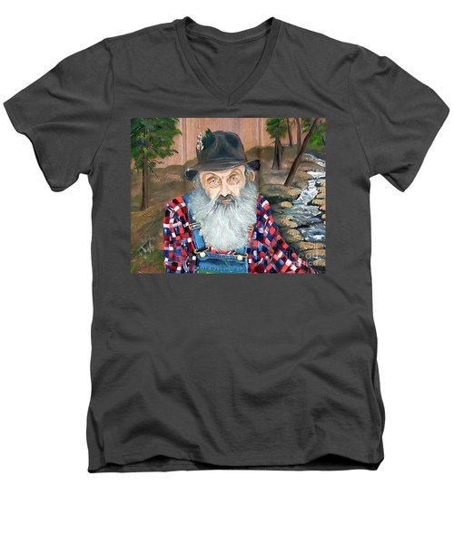 Popcorn Sutton - Moonshine Legend - Landscape View Men's V-Neck T-Shirt