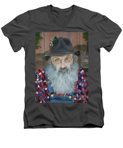 Popcorn Sutton - Moonshiner - Portrait Men's V-Neck T-Shirt