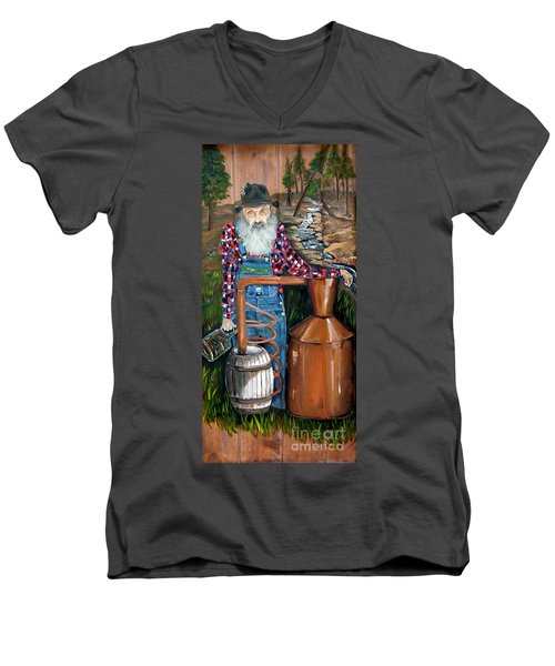 Popcorn Sutton - Moonshiner - Redneck Men's V-Neck T-Shirt