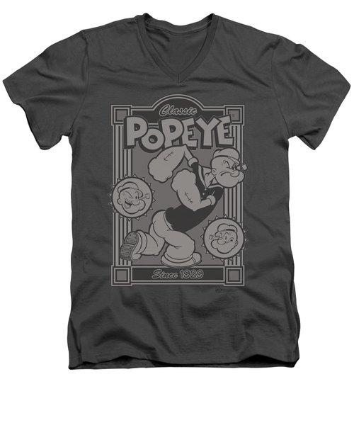 Popeye - Classic Popeye Men's V-Neck T-Shirt by Brand A