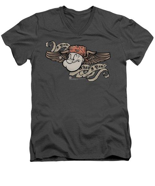 Popeye - I Am Men's V-Neck T-Shirt by Brand A