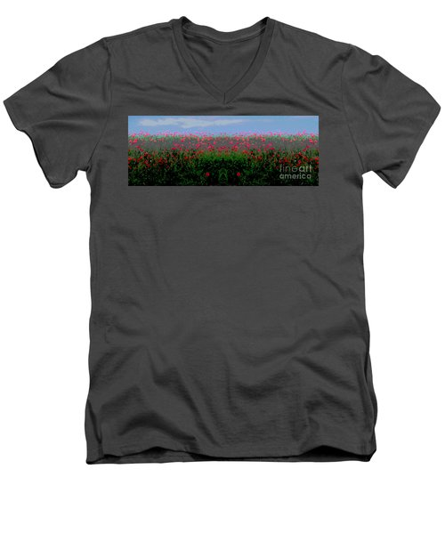 Poppies Field Men's V-Neck T-Shirt
