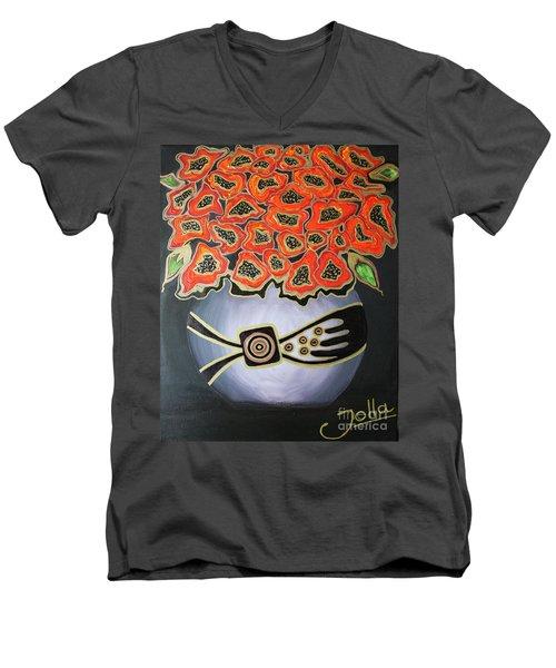 Poppies Revisited.. Men's V-Neck T-Shirt