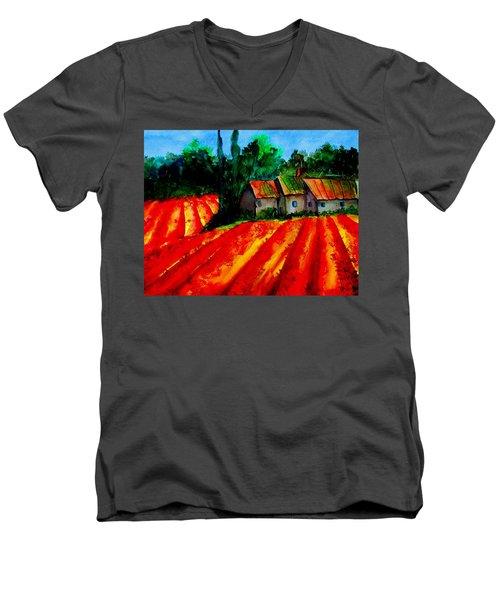 Poppy Field  Sold Men's V-Neck T-Shirt by Lil Taylor