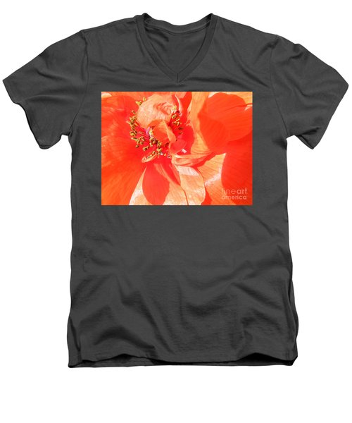 Men's V-Neck T-Shirt featuring the photograph Poppy Palette In Red by Brian Boyle