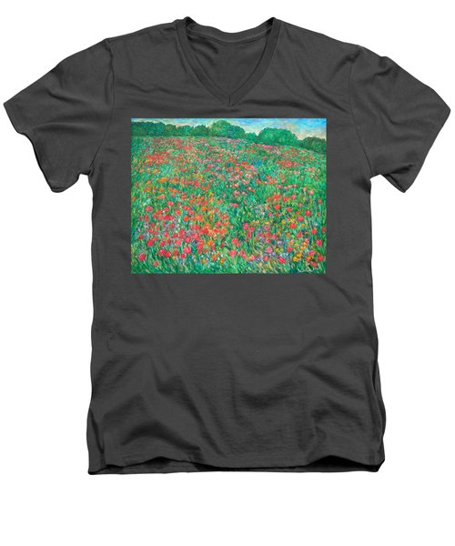 Poppy View Men's V-Neck T-Shirt