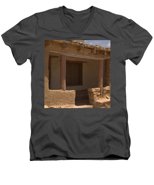 Porch Of Pueblo Home Men's V-Neck T-Shirt