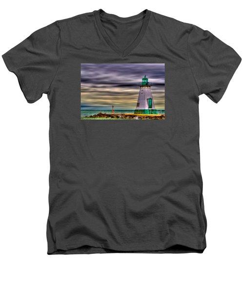 Port Dalhousie Lighthouse Men's V-Neck T-Shirt by Jerry Fornarotto