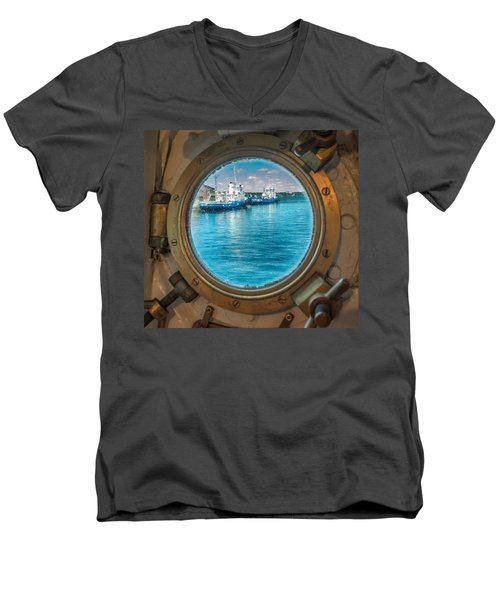 Hmcs Haida Porthole  Men's V-Neck T-Shirt