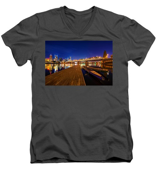 Portland Under The Stars Men's V-Neck T-Shirt