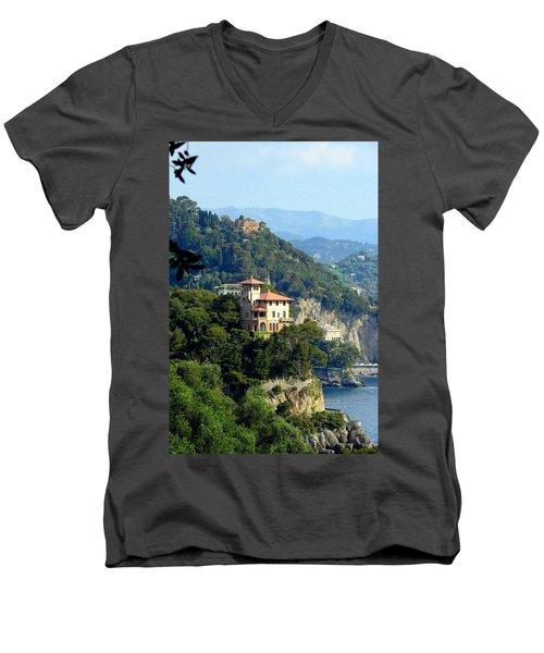 Portofino Coastline Men's V-Neck T-Shirt