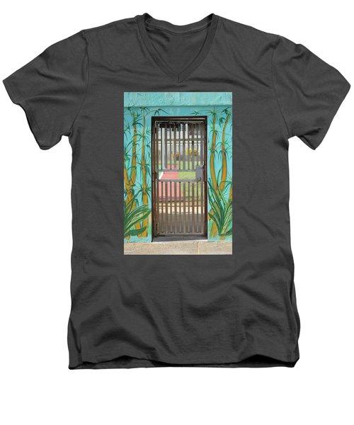 Porton Cerrado Men's V-Neck T-Shirt by The Art of Alice Terrill