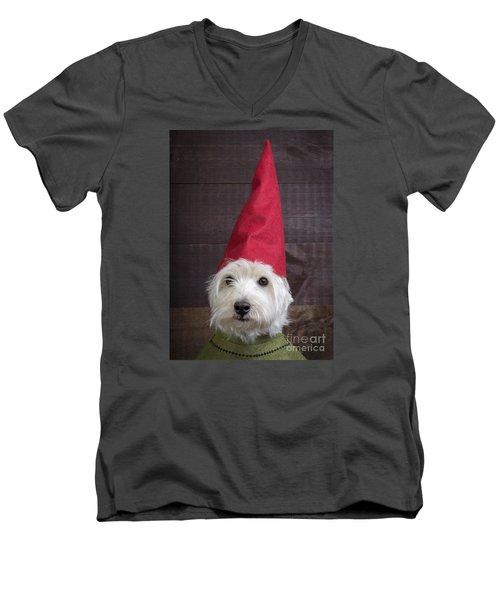 Portrait Of A Garden Gnome Men's V-Neck T-Shirt