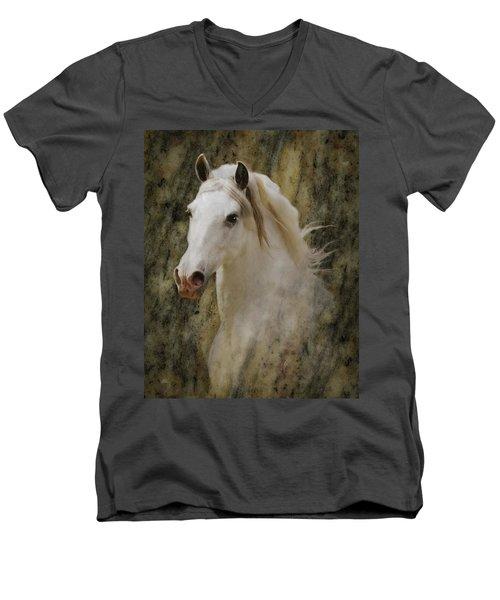 Portrait Of A Horse God Men's V-Neck T-Shirt