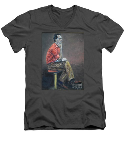 Portrait Of Ali Akrei - The Painter Men's V-Neck T-Shirt