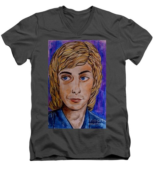 Portrait Of Barry 2 Men's V-Neck T-Shirt