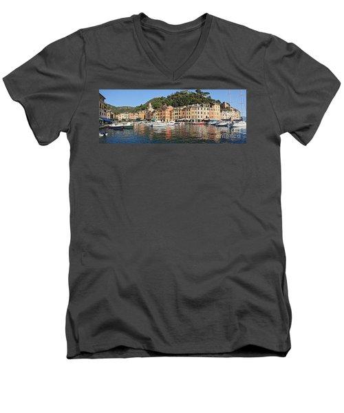 Men's V-Neck T-Shirt featuring the photograph Porttofino - Italy by Antonio Scarpi