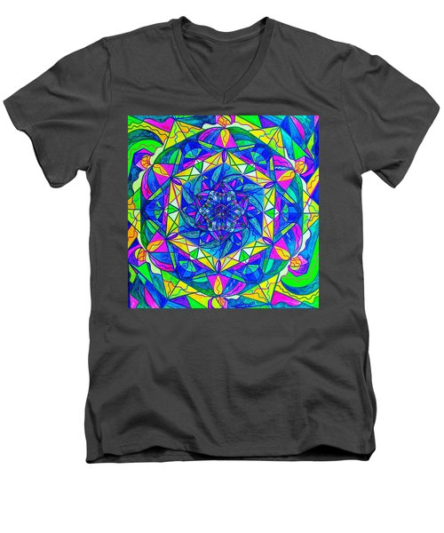 Positive Focus Men's V-Neck T-Shirt