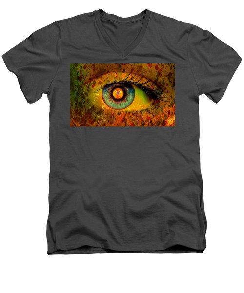 Possessed Men's V-Neck T-Shirt by Ally  White