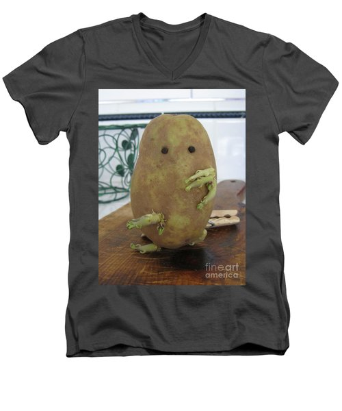 Potato Man Men's V-Neck T-Shirt