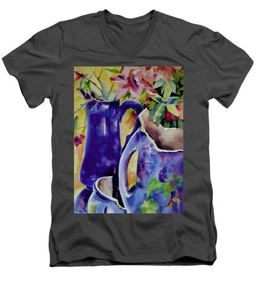 Pottery And Flowers Men's V-Neck T-Shirt