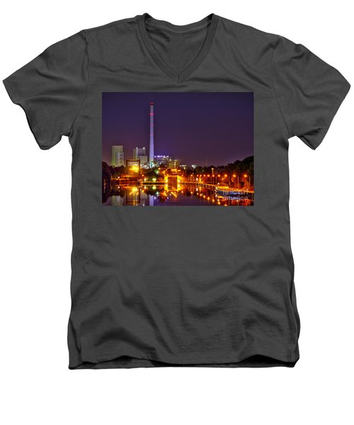 Powerhouse In A Sea Of Lights Men's V-Neck T-Shirt