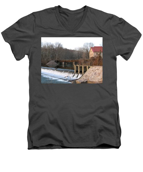 Prallsville Mill Men's V-Neck T-Shirt