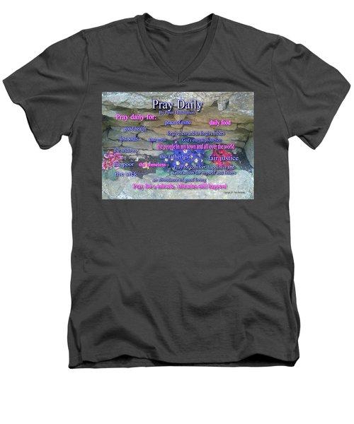 Pray Daily Men's V-Neck T-Shirt