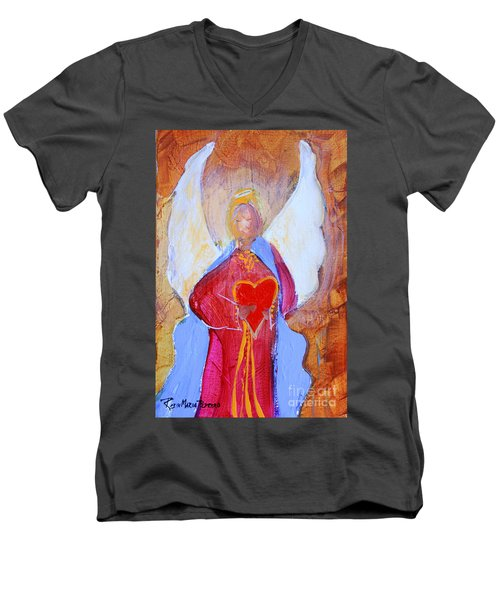Precious Heart Angel Men's V-Neck T-Shirt