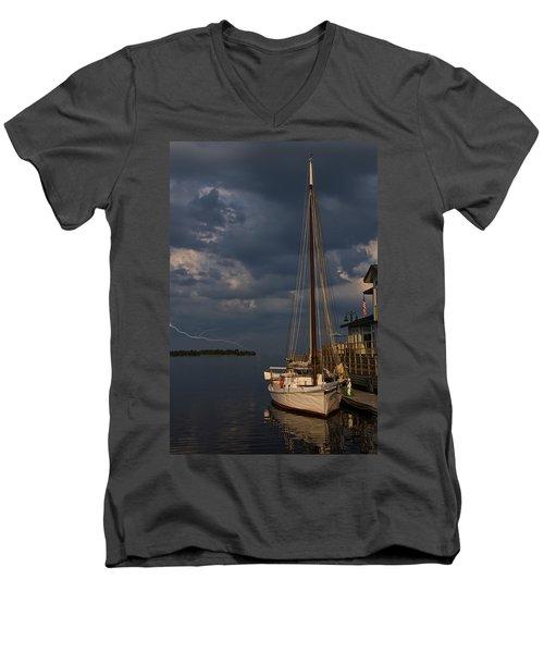Preparing For The Storm Men's V-Neck T-Shirt by Chris Flees