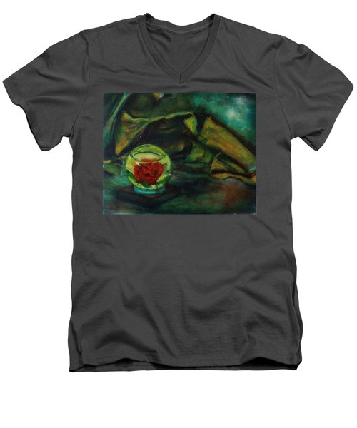 Preserved Rose . . Draped Canvas Men's V-Neck T-Shirt by Sean Connolly