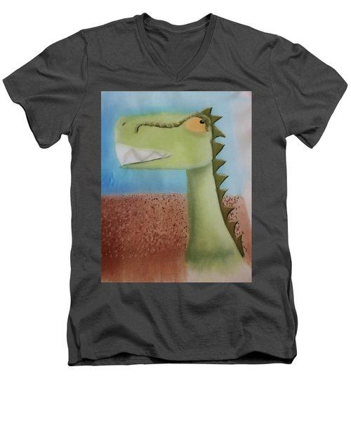 Dinoart Raptor Men's V-Neck T-Shirt