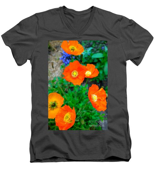 Pretty In Orange Men's V-Neck T-Shirt