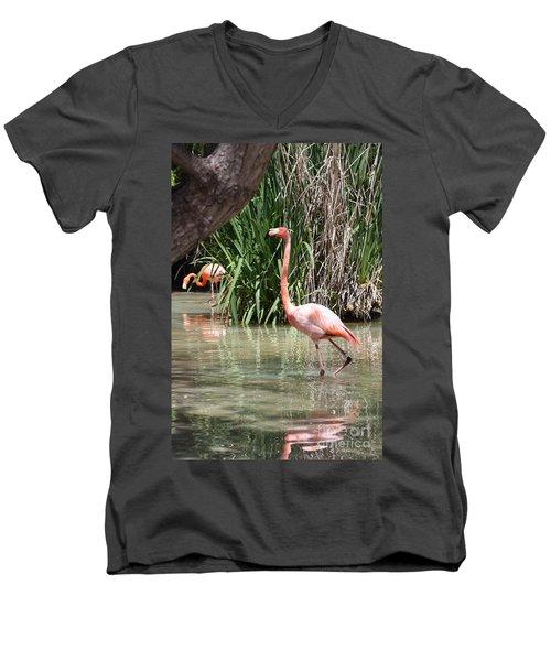 Pretty In Pink Men's V-Neck T-Shirt by John Telfer