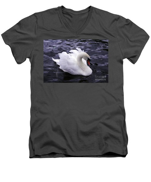 Pretty Swan Men's V-Neck T-Shirt