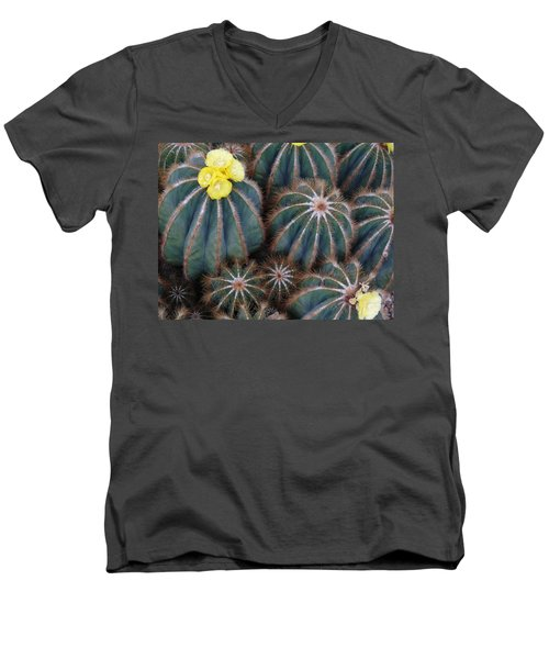 Men's V-Neck T-Shirt featuring the photograph Prickly Beauties by Evelyn Tambour