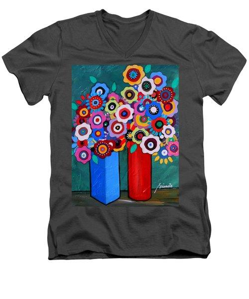 Prisarts Florals II Men's V-Neck T-Shirt